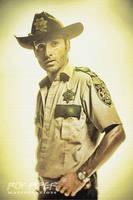 The Walking Dead: Rick: Sketch Re-Edit by nerdboy69