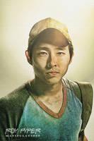 The Walking Dead: Glenn: Sketch Re-Edit by nerdboy69