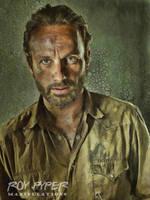 The Walking Dead: Rick: Oil Paint Re-Edit by nerdboy69