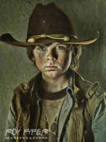 The Walking Dead: Carl: Oil Paint (Vers. 2) by nerdboy69