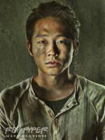 The Walking Dead: Glenn: Oil Paint Re-Edit by nerdboy69