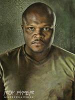 The Walking Dead: T-Dog: Oil Paint Re-Edit by nerdboy69