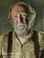 The Walking Dead: Hershel: Oil Paint Re-Edit by nerdboy69