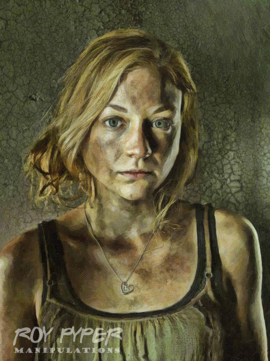 The Walking Dead: Beth: Oil Paint Re-Edit by nerdboy69