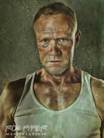 The Walking Dead: Merle: Oil Paint Re-Edit by nerdboy69