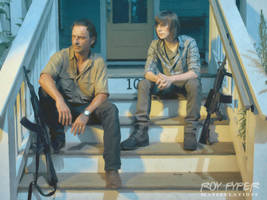 TWD: Rick and Carl: Oil Paint Edit by nerdboy69