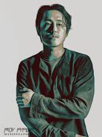 TWD: Glenn Rhee: Crayon Sketch Edit by nerdboy69