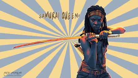 TWD: Michonne: Samurai Queen: Vectorize Desktop by nerdboy69