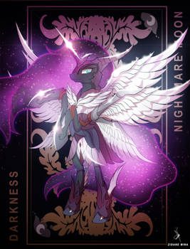Nightmare Moon - Goddess of Darkness by ZidaneMina