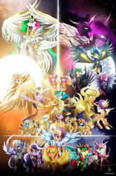 Holy Wars - My Little Pony - Knights of the Zodiac by ZidaneMina