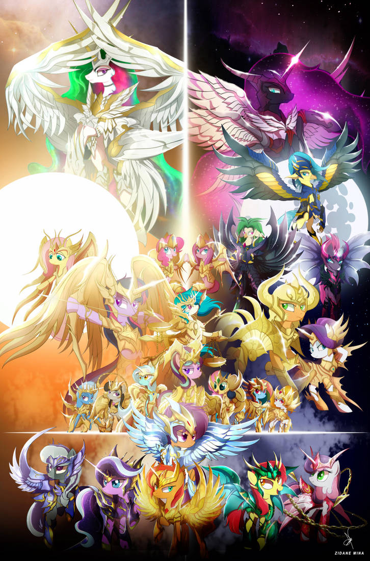 Holy Wars My Little Pony Knights Of The Zodiac By