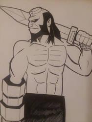 Hellboy  by christheZfighter