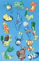 Falling Pokemon by whoatheresara