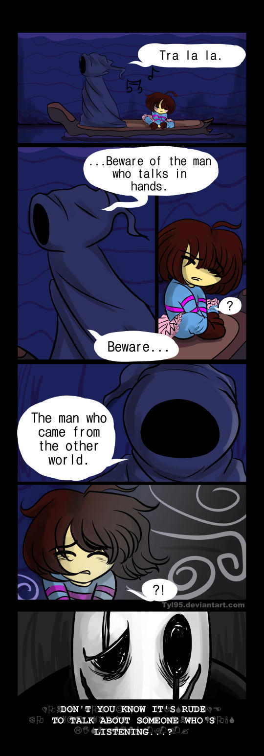 The Riverpersons Warning (Undertale Comic) by Tyl95