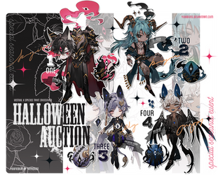 [mixed batch] halloween auction [closed] by yukibuns