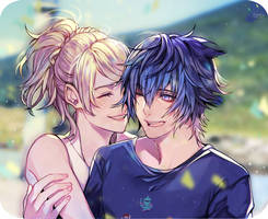 Luna and Noctis at Galdina by Nooboru