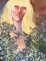 Girl in the Leaves by lauren-moyer
