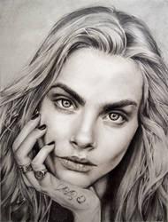 Cara Delevingne by JulietGarciaArt