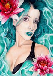 Water Nymph by JulietGarciaArt