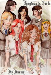 Hogwart's girls by Karmypu