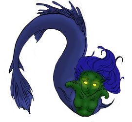 Dark Mermaid by Azimizian