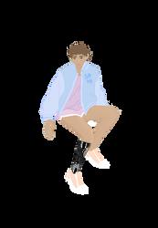 Original Character(leg was stuck in my head) by Azimizian