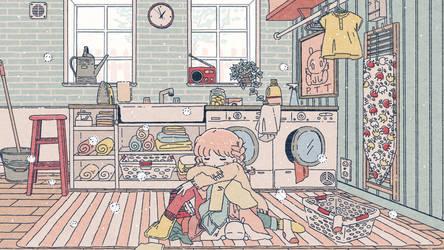 Daydreaming Laundry Room by noellemonade