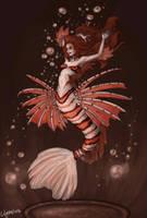 Lionfish Mermaid by lilythebird