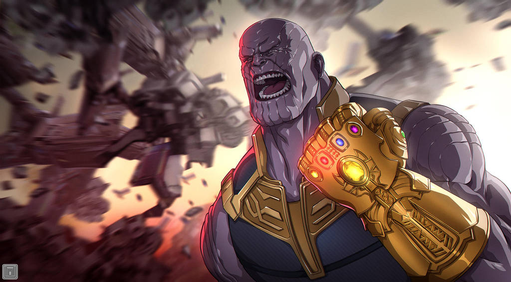 Mad Titan Thanos by darkeyez07