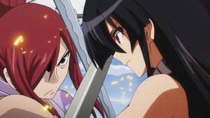 Erza Scarlet VS Akame by AntaresHeart07