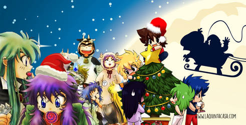 Saint Seiya Banner Christmas by AntaresHeart07
