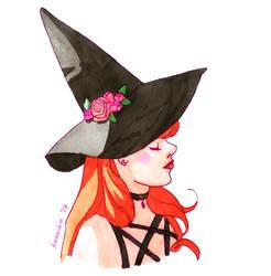 A Redhead Witch by Koariko