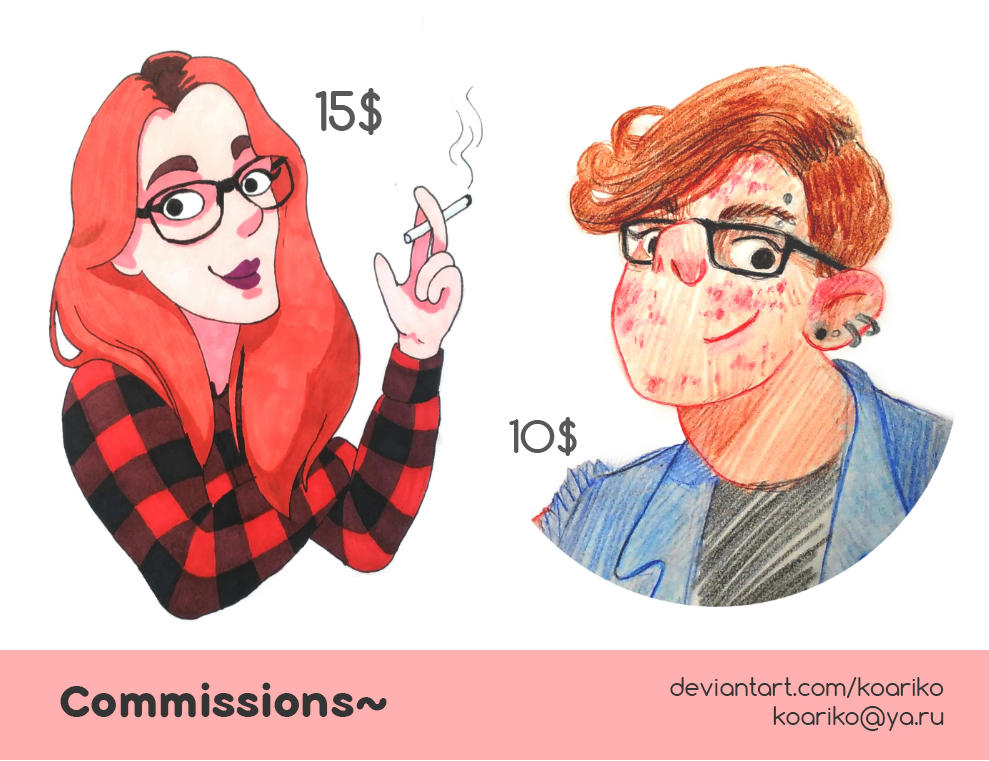 Commissions are OPEN! (10-15$) by Koariko