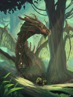 Forest Dragon by xXNikleXx