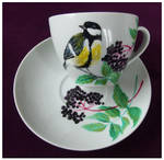 Great tit in black lilac by Xantosia