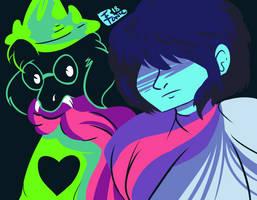 Kris and Ralsei by elect0nic