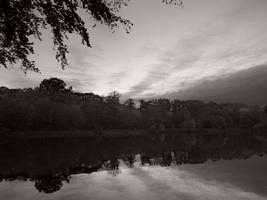 Pond of Villebon at sunset by yuushi01