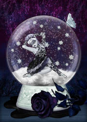 Snowglobe princess by justaraindrop