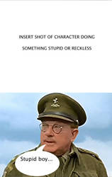 Captain Mainwaring stupid boy meme by Animedalek1
