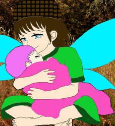 Twigsnap cuddles Cherryblossom by Animedalek1