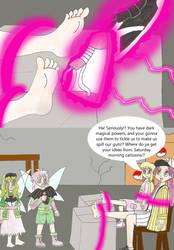 Casey mocks the evil fairy twins by Animedalek1