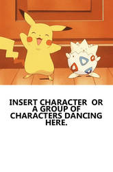 Dance with pikachu and togepi meme by Animedalek1