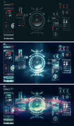 Prototype Space Age UI by ben-aji