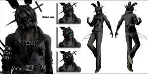 [MMD FNAF] (NO DL) Human Shadow Bonnie/RWQFSFASXC by Kinishan