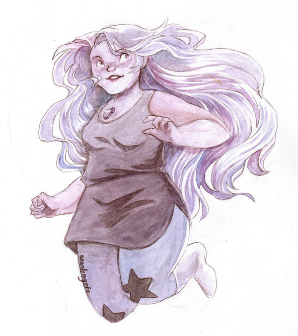 I never really put much throught into cosplaying a character until I met this one. ;w; Amethyst is a perfect little angry ball of purple, and she's me-shaped too, haha!