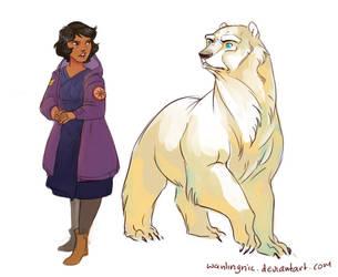 Phoebe and Valemon by wanlingnic