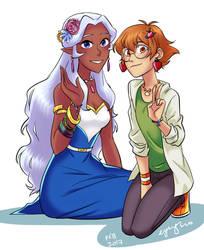 Allura and Pidge by eyugho