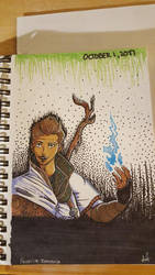 Inktober Day 1: Dorian Pavus by Jindovi