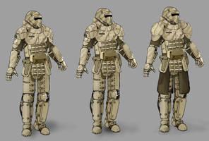 heavy infantry armor by LaskunA