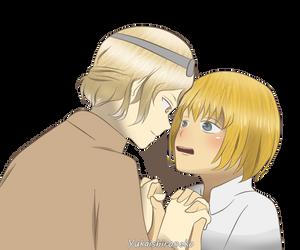 Robin x Armin [Art trade] by Yukaishironeko